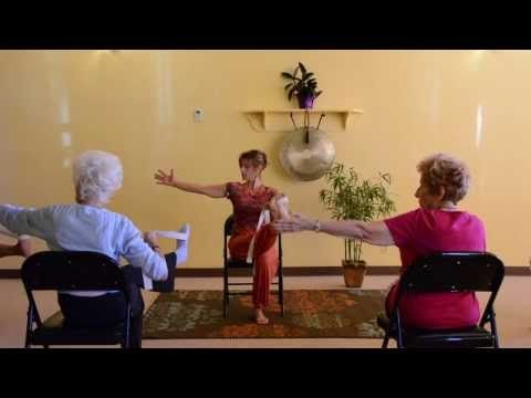 Is yoga good for dementia? Doing it in a chair is a way to help people with dementia participate.